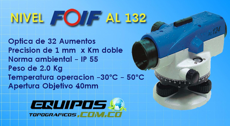 Nivel Topografico  FOIF AL 132, nivel digital.