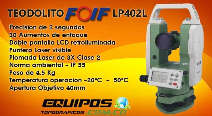 Teodolito Digital LP 402L de FOIF equipos topograficos